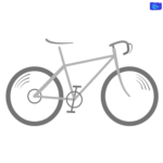 road bicycle design graphic