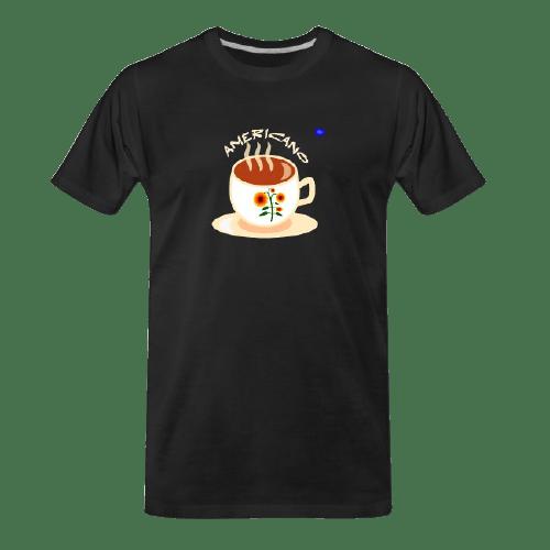 Coffee t-shirts: Americano - long coffee design