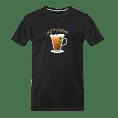 Coffee t-shirts: Irish Coffee design