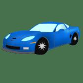 Sportcar design - blue sportcar graphic