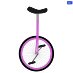 pink monocycle graphic