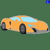 sportcar graphic - orange sportcar graphic