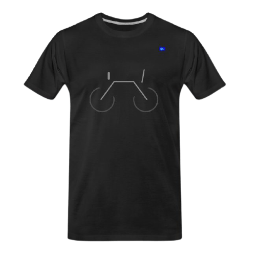 simple bicycle design graphic tee
