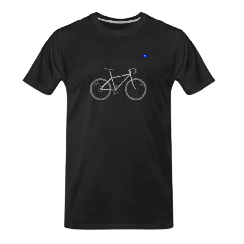 road bicycle design graphic tee
