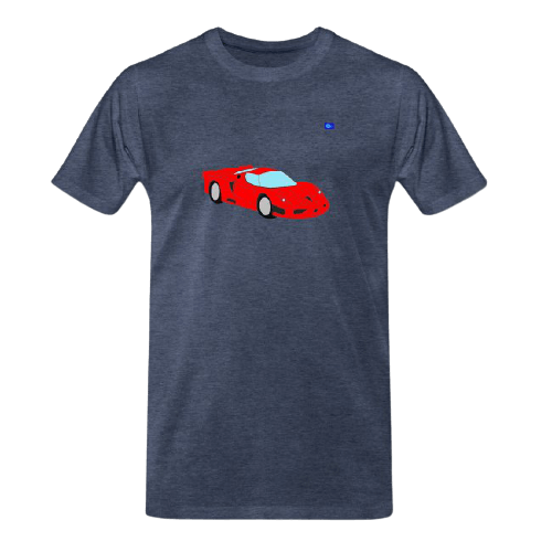 Sports car graphic t-shirt - red sport car design