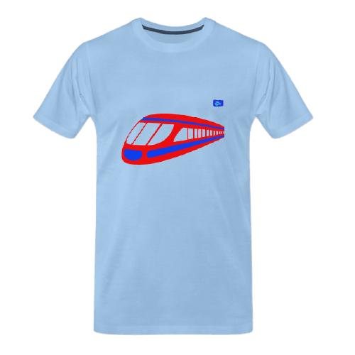 Bullet train graphic t-shirt