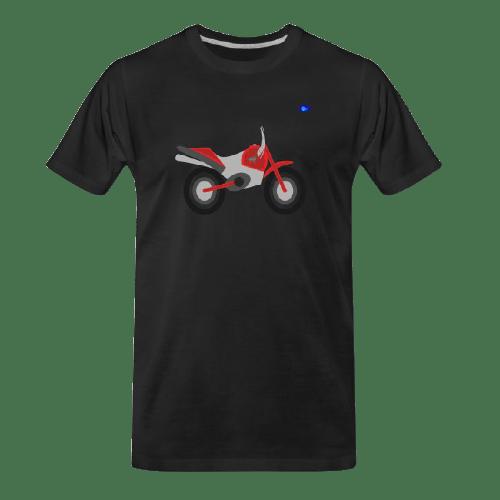 Motorcycle design t-shirt - red cross bike graphic