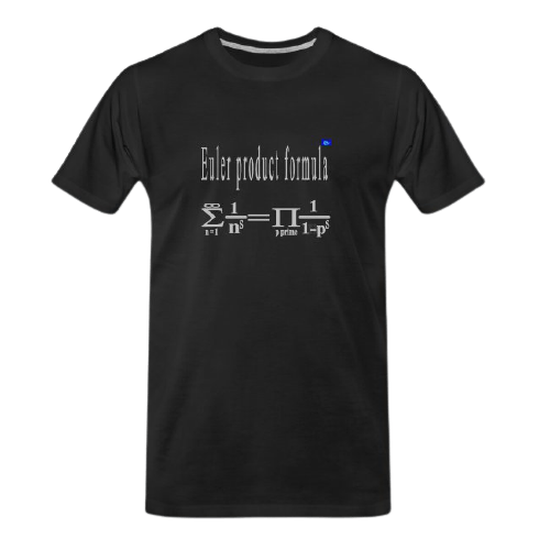 Euler product formula math t shirt for students and maths teachers