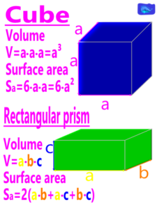 cube and rectangular prism