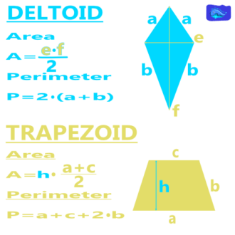 math designs: deltoid and trapezoid