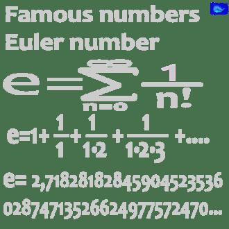 math designs: e - Euler number