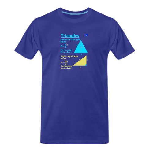 Triangles with perimeter and area - math tee for students and maths teachers