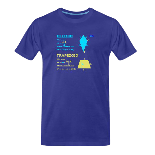 Deltoid and trapezoid with perimeter and area - math tee for students and maths teachers