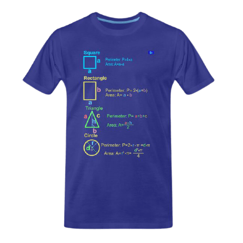Math, Geometry - perimeters, and areas - math tee for students and maths teachers