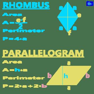 math designs: rhombus and paralelogramm