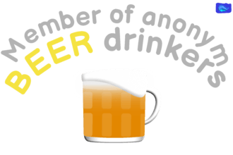 Member of anonym beer drinkers - funny beer graphic