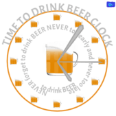 Time to drink beer clock - funny beer graphic