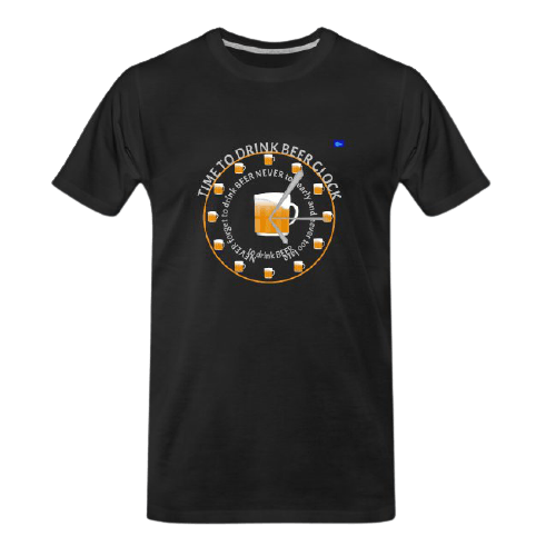 Time to drink beer clock - funny beer t shirts