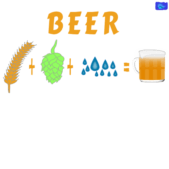components of beer - funny beer graphic