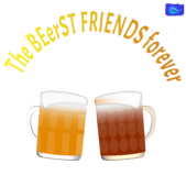 The Beerest friends forever - funny beer graphic