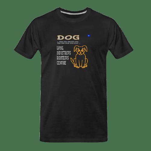 Chinese zodiac, Dog black tshirt