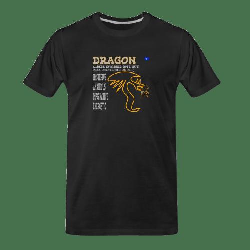 Chinese zodiac, Dragon black tshirt