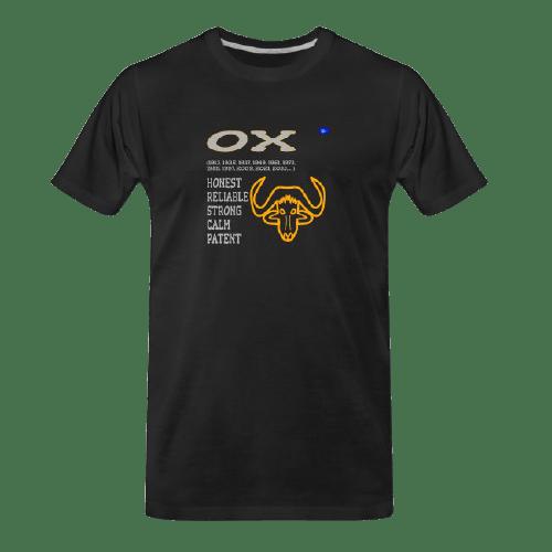 Chinese zodiac Ox black tshirt