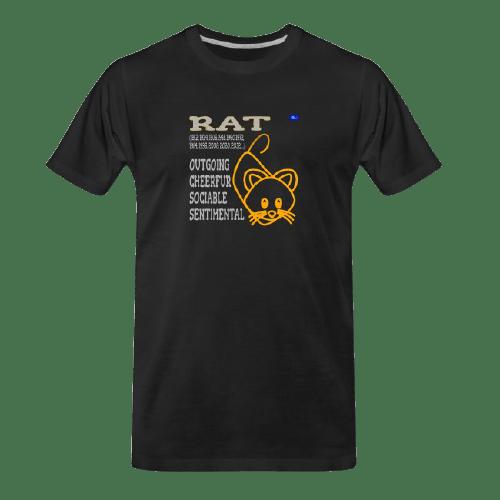 Chinese zodiac Rat black tshirt