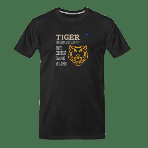 Chinese zodiac Tiger black tshirt
