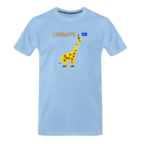 Funny animal tees - giraffe tee