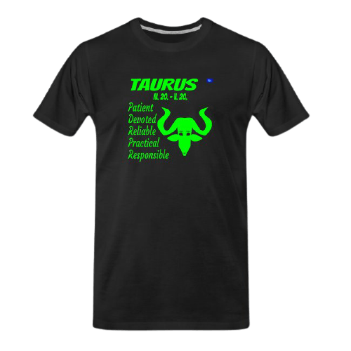 Taurus astrology design t shirt