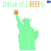 Statue of liBeerty - funny beer graphic