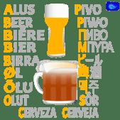 Beer, bier, biére, pivo, cerveza...- multilingual - funny beer graphic