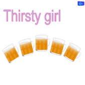 Thirsty girl - funny beer graphic
