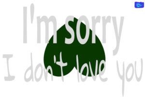 I'm sorry, I don't love you1