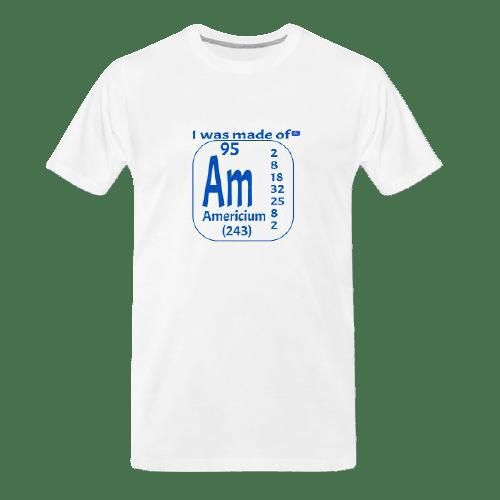 cool Chemistry designs t-shirt, Americium, Am designed white t shirt