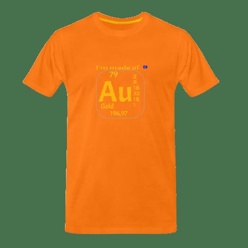 cool Chemistry designs t-shirt, Gold - Aurum designed t shirt