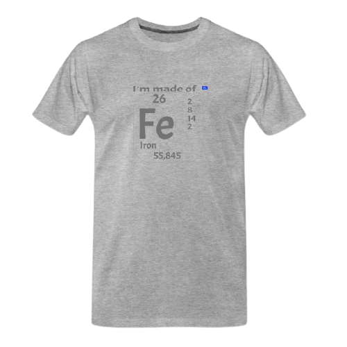 cool Chemistry designs t-shirt, Iron - Ferrum designed t shirt