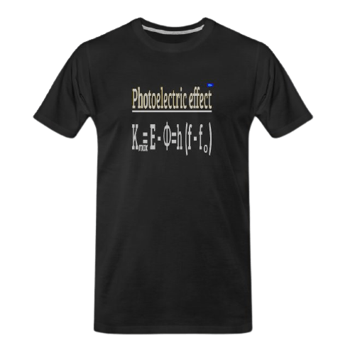 photoelectric effect black t-shirt
