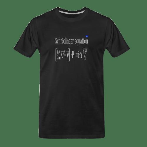 Schrödinger equation black t-shirt