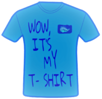 Wow, it's my t-shirt