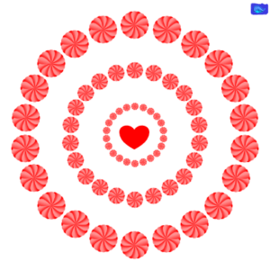 red lowers with heart
