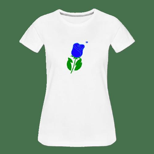 blue rose graphic art shirt