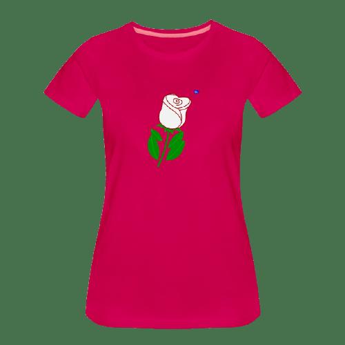 white - red rose graphic art shirt