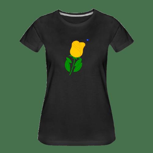 yellow rose graphic art shirt