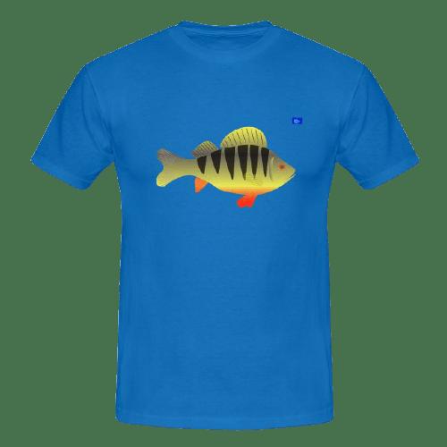 Perch art graphic, fishing design t shirts