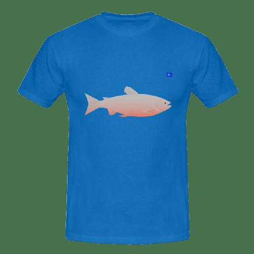 Salmon art graphic, fishing design t shirts