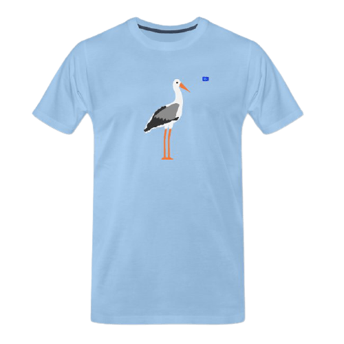 Stork -bird art design t-shirt