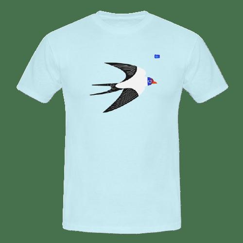 Swallow - bird art design t-shirt